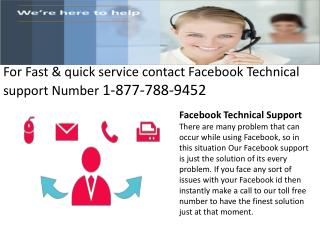 1-877-788-9452 # Facebook Support number |A quick way to solve customer queries