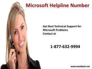 Get Microsoft Help Call Microsoft  Helpline Number 1-877-632-9994 Tollfree