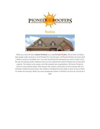 Roofers Portland