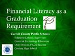 Financial Literacy as a Graduation Requirement