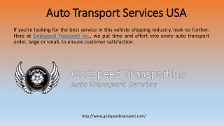 Auto Shipping Transport Service USA