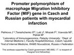 Promoter polymorphism of macrophage Migration Inhibitory Factor MIF gene in Czech and Russian patients with myocardial i