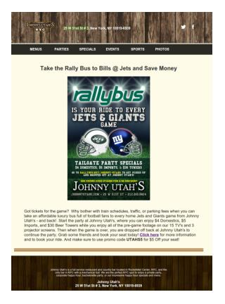 Take the Rally Bus to Bills @ Jets and Save Money