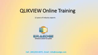 Qlikview Online Training Overview & Course Content
