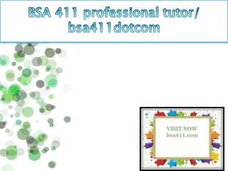BSA 411 professional tutor / bsa411dotcom