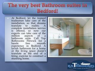 The very best Bathroom suites in Bedford