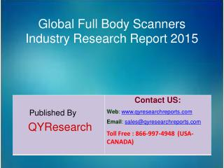 Global Full Body Scanners Market 2015 Industry Growth, Development and Analysis