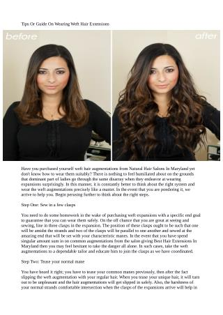 Tips Or Guide On Wearing Weft Hair Extensions