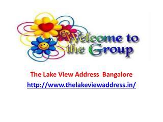 The Lake View Address Electronic City