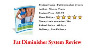 Fat Diminisher System Review - Legit Or Scam?