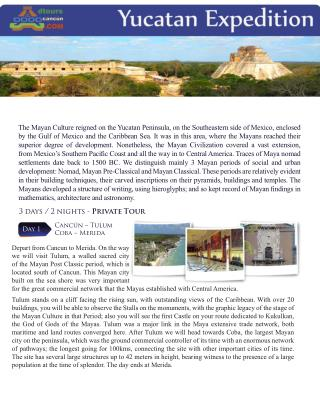 Yucatan expeditions dtours