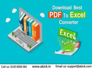 Download PDF To Excel Converter - Akick
