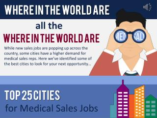 The Best Cities for Medical Sales Jobs