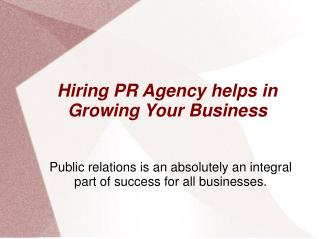 Grow your Business with Reputed PR Agency