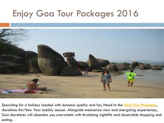 Enjoy Goa Tour Packages 2016