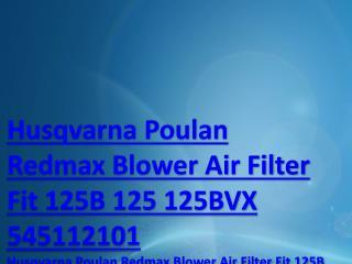 Husqvarna Poulan Redmax Blower Air Filter Fit 125B 125 125BVX 545112101