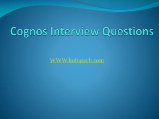 Cognos Interview Questions