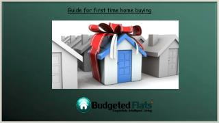 Guide for first time home buyer