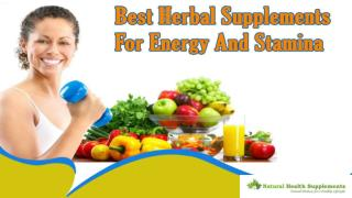 Best Herbal Supplements For Energy And Stamina That Are Really Effective