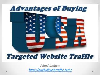 Advantages Of Buying USA Website Traffic