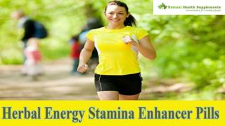 Herbal Energy Stamina Enhancer Pills To Stay Fresh And Energetic