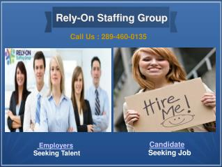 Rely-On Staffing Agency Toronto - Permanent & Temporary Jobs Toronto