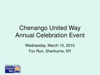 Chenango United Way Annual Celebration Event