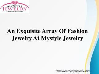 MyStyle Jewelry -  Buy Online Fashion Jewelry For Women