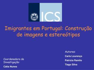 Imigrantes em Portugal: Constru  o de imagens e estere tipos