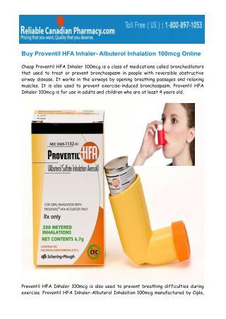 Buy Proventil HFA Inhaler 100mcg Online