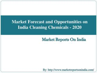 Market Forecast and Opportunities on India Cleaning Chemicals - 2020