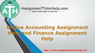 Online Accounting and Finance Assignment Help