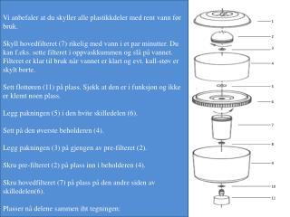 Monterings- og bruksanvisning - VBMF Vannbeholder med filter