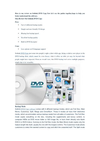 Sothink DVD Copy Review