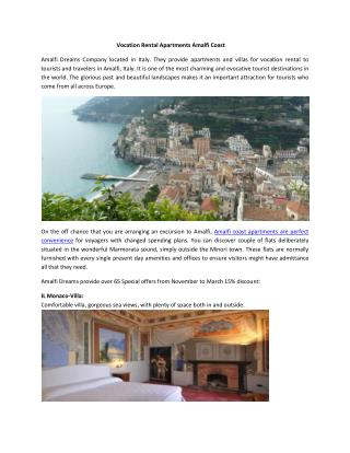 Vocation Rental Apartments Amalfi Coast