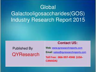 Global Galactooligosaccharides(GOS) Market 2015 Industry Development, Research, Trends, Analysis  and Growth