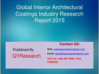 Global Interior Architectural Coatings Market 2015 Industry Growth, Trends, Development, Research and  Analysis