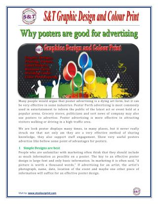 Why posters are good for advertising