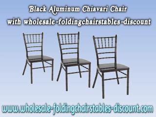 Black Aluminum Chiavari Chair with wholesale-foldingchairstables-discount