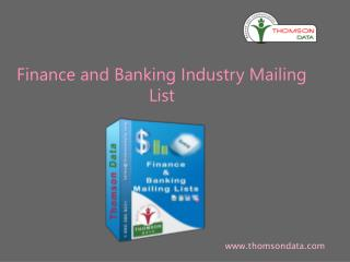 Finance and Banking Industry Executives Email and Mailing Lists