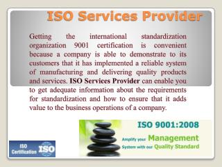 ISO Services Provider And Informative ISO 9001 Guide For All