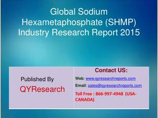 Global Sodium Hexametaphosphate (SHMP) Market 2015 Industry Analysis, Forecasts, Study, Research, Outlook, Shares, Insig