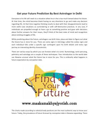Best Jyotish in Delhi India   Future Prediction