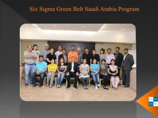 Six Sigma Green Belt Saudi Arabia Program