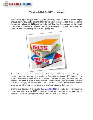 IELTS Sample Test For Preparation