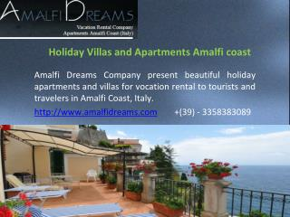 Holiday Villas and Apartments Amalfi coast