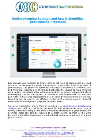 Bookingkeeping Solution and how it Simplifies Bookkeeping Processes