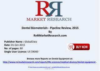 Dental Biomaterials Pipeline Review 2015