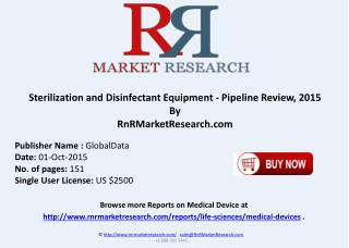 Sterilization and Disinfectant Equipment Pipeline Review 2015