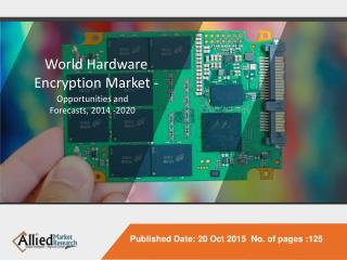 World Hardware Encryption Market - Opportunities and Forecasts, 2014 -2020